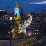 Edinburgh From Calton Hill At Night