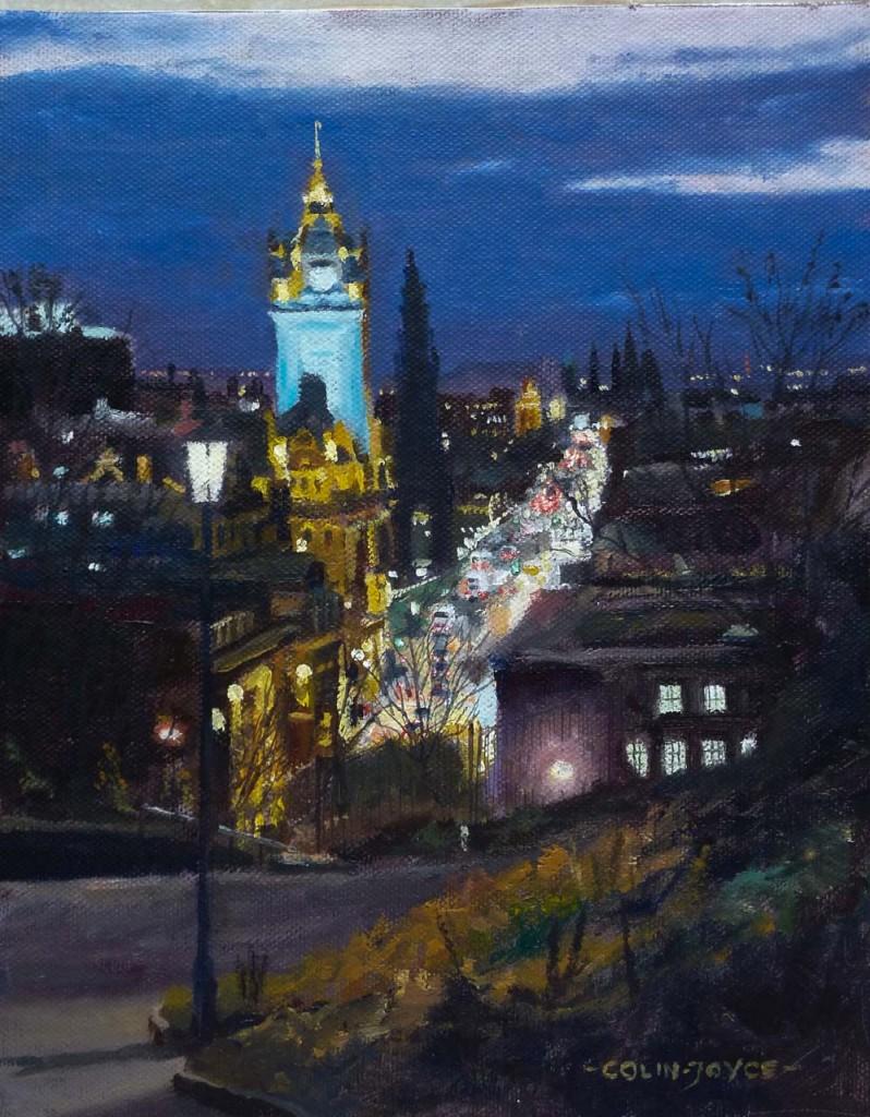Edinburgh Calton Hill at night