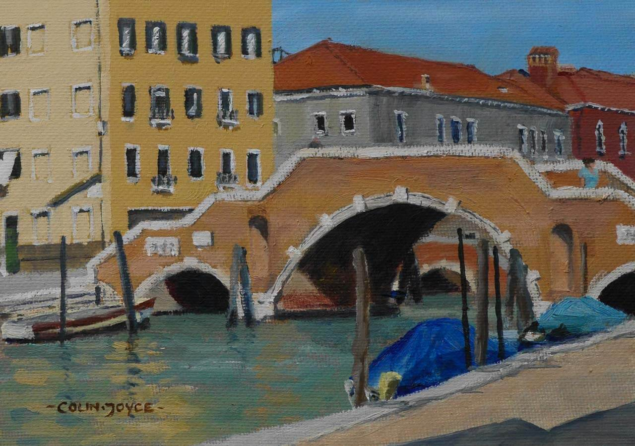 Arte Umbria's LAST MINUTE 15% Discount To Paint Venice With Colin Joyce. BOOK NOW