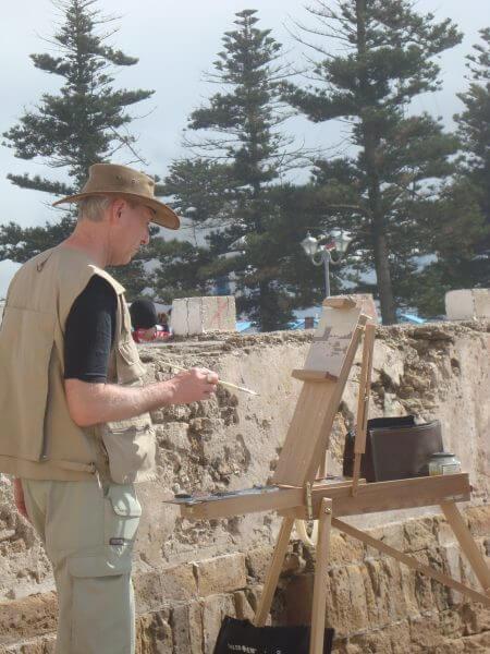 Colin Joyce Painting In Essaouira