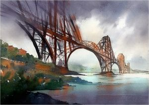 toms painting of forth bridge