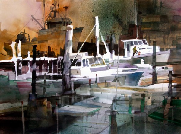 John Salminen Plein Air - Gloucester Boatyard